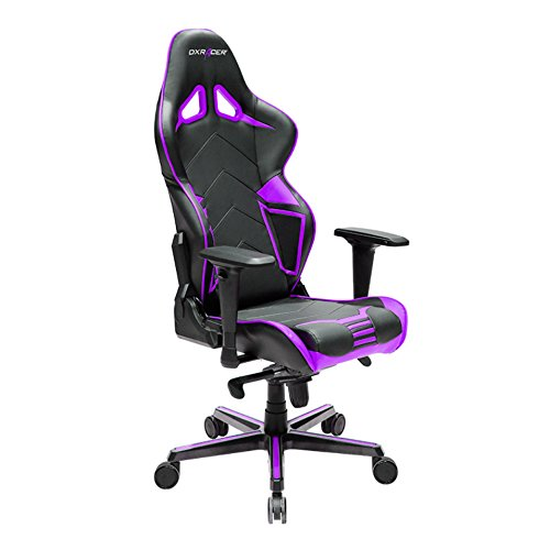 DXRacer OH/RV131 Racing ERGO Seat Office Chair Gaming Ergonomic with - Free Head and Lumbar Support Pillows (Black/Violet) DXRACER