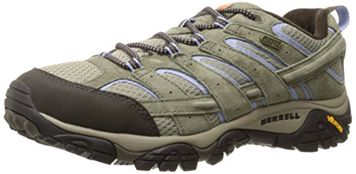 Dusty Olive - Merrell Women's Moab 2 Waterproof Hiking Shoe, Dusty Olive, 7.5 M US