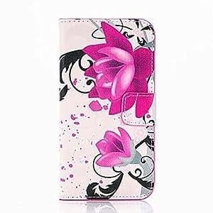 ZXM- patrón de flores púrpura caso de cuerpo completo con soporte para el iphone 6