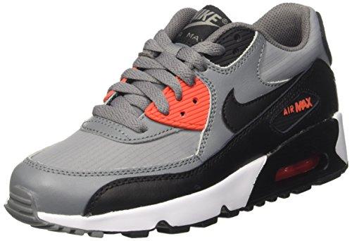 Nike Air Max 90 Mesh Gs, Sandalias con Plataforma Unisex Niños Gris (Cool Grey/black/max Orange/white)