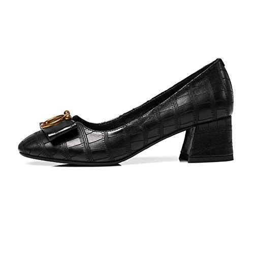 Bout Femme Formelle Cjc Partie Rude Taille 5 couleur Chaussures B Dames Moyens Cour Talon Slip A Pointu Eu38 Sur uk5 Talons Bureau Travail tqdFtn