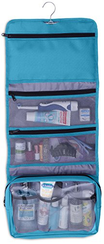(Hanging Makeup Organizer Cosmetic Travel Bag Hanging Toiletry Bag, Teal)