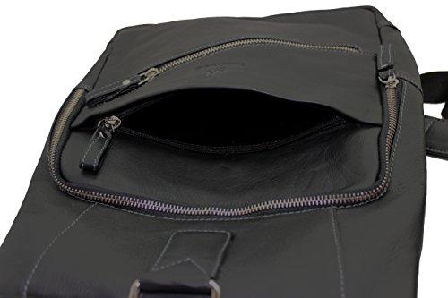 bag Leather Real 540 Shoulder Rucksack Kindle Backpacks Sling Women's for Men's StarHide Black Tablet body Ipad Cross Travel Messenger pqxOI