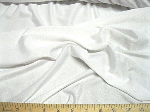Discount Fabric Lycra /Spandex 4 way stretch White Matt Finish LY710 ()