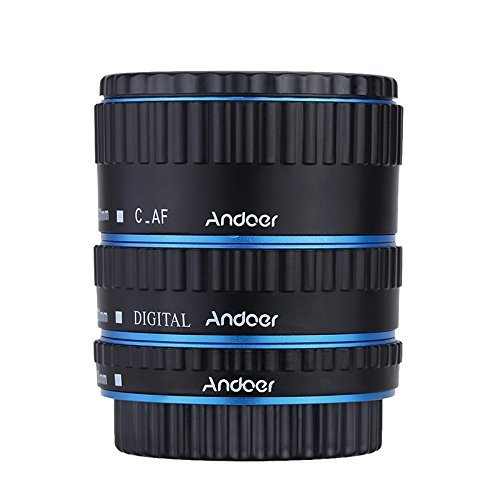 Andoer Metal TTL AF Macro Extension Tube Ring Auto Focus Colorful for Canon EOS EF EF-S 60D 7D 5D II 550D