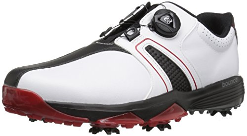 adidas Men's 360 Traxion Boa Ftwwht/CB Golf Shoe, White, 13 M US