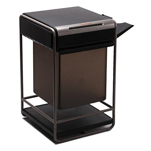 Bonsaii PrinterBro C146-B Desktop-Style Cross-Cut 10-Sheet Paper/Clip/Staple Shredder, 3-in-1 Combo Unit, 11.1 Gallon Draw-out Wastebasket Capacity, Super Space Saving by Bonsaii