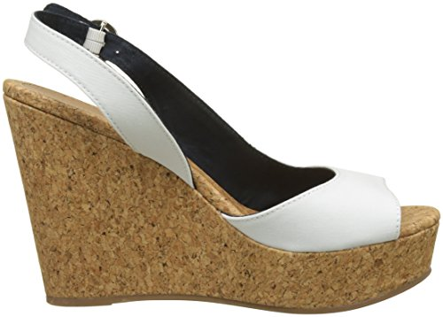 Hilfiger Donna White Tommy Espadrillas Bianco Stripes Wedge Printed Whisper with 121 qUnRpUF