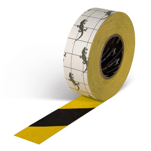 Gator Grip : SG3902YB Premium Grade High Traction Non Slip 60 Grit Indoor Outdoor Colored Anti-Slip Tape, 2 Inch x 60 Foot, ()