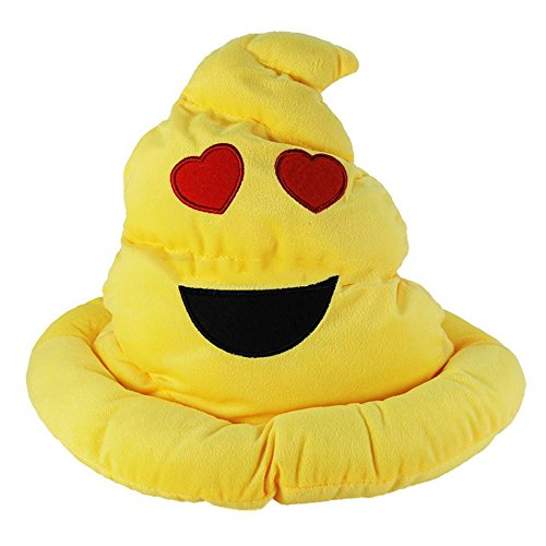 Great Gift Yellow Emoji Plush Poop Hat Emoticon Poo Icon Soft Stuffed