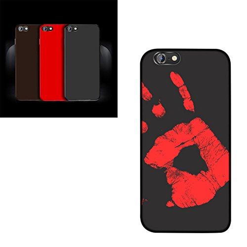 Price comparison product image Sinwo Magical Color Changing Thermal Heat Induction Case Cover For iPhone 7 4.7 inch, For iPhone 7 Plus 5.5 inch (Black
