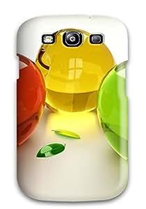 Cynthaskey OHlHnnc1787GdOwC Case Cover Skin For Galaxy S3 (glass Apples)