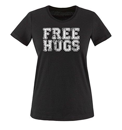 T Shirts nero colori Donna HUGS XS taglia XXL maglietta bianco vari FREE Shirt Comedy xInZwgZq