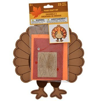 Thanksgiving Turkey Foam Craft Kits Toddler Teen Kids Harvest Decor Classroom Autumn Fall Decoration (Jumbo White Bunny Kit)