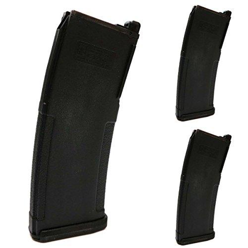 Airsoft Shooting Gear 3pcs PTS (KWA) EPM 40rd Enhanced Polymer GBBR Magazine Black by Airsoft Shopping Mall