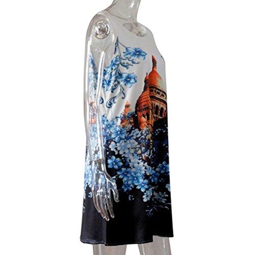 Imprim Courte de Crayon Robe Jupe Plage Jupon Manche Tunique Robe A 19 Court Soire Line Robe de sans Mini Robe Fille de Robe Mini Femme Covermason rArRP8