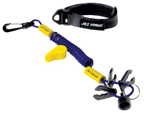 JET LOGIC UL-1 Ultimate PWC Safety Lanyard, Purple/Yellow - Safety Wrist Lanyard