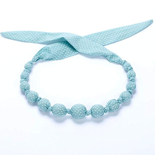 (Peppercorn Kids Girls Fabric Necklace - Sprinkle Dots - Mint Frosting)