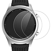 [2-PACK] Gear S3 Screen Protector - MoKo [Tempered Glass] Premium HD Clear 9H Hardness Tempered Glass Screen Protector Film with Oleophobic Coating for Samsung Gear S3 Frontier/S3 Classic Smart Watch