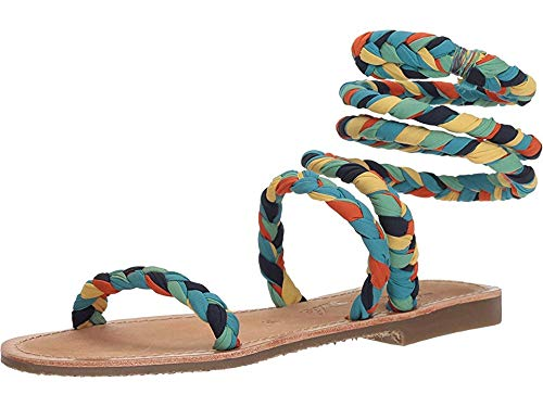 Free People Women's Embellished Havana Sandal Blue Combo 36 M EU