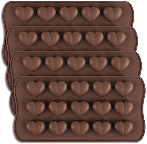 S.B. ANJALI SHALU BHAI ONE Mould 15-Cavity Dimpled Heart Shape Chocolate Mold, Silicone Dimpled Valentine Heart Chocolate Gummy and Candy Mold Price & Reviews