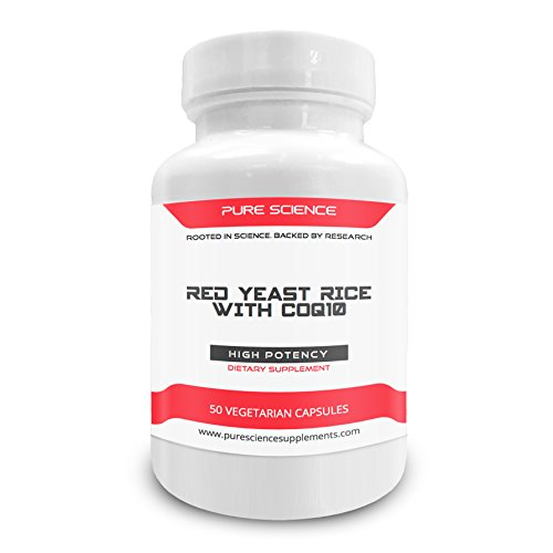 Cheap Pure Science Red Yeast Rice 600mg and CoQ10 100mg – Supports Cardiovascular and Immune Health – 50 Vegetarian Capsules