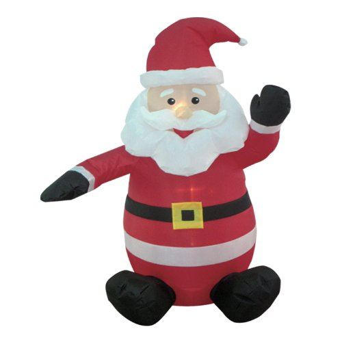 BZB Goods 4-foot Christmas Inflatable Santa Claus Blow-Up Yard Decoration, Red, 4 Foot (Santa Decorations Claus Outdoor)