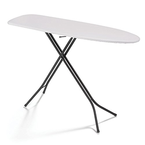 Polder IB-5416-429 Dual-Leg Ironing Board, 54″ x 15″ Surface, Includes Cover and Pad