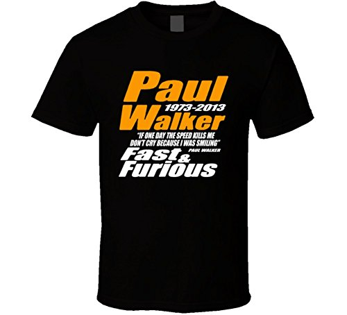 T-Shirt Bandit Paul Walker Rest In Peace Actor Fast Furious Movie T Shirt XL Black
