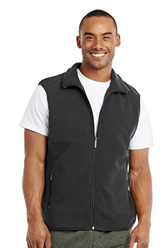 Fleece Mens Vest - Knocker Men's Polar Fleece Zip Up Vest (XL, Charcoal)
