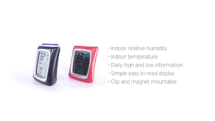 AcuRite 00325 Indoor Thermometer & Hygrometer with Humidity Gauge, Black, 0.3