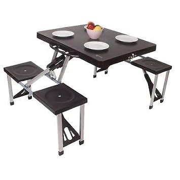 Juego de mesa y silla de picnic plegable con pestañas para camping ...