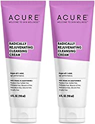 Acure Organic Mint and Argan Oil Facial Cleansing Creme With Acai, Blackberry, Rosehips, Pomegranate, Chamomile, Rooibos, Aloe Vera and Echinacea For Skin Clearing and Fighting Acne, 4 oz. (Pack of 2)