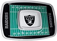 BSI PRODUCTS, INC. Las Vegas Raiders Chip & Dip Tray Party Tailgate Heavy Duty Melamine Foot