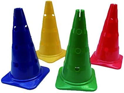 BGS LOT 12 PLOTS 30 cm Cones DE MARQUAGE PERC/ÉS Jalons Fente Cerceau Plat