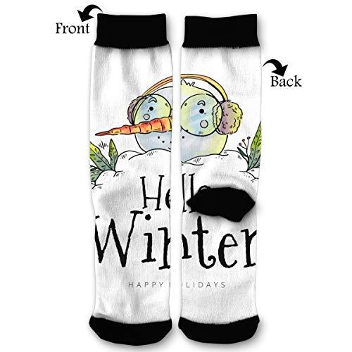 EKUIOP Socks Cute Head Snowman Wearing Glasses and Earmuffs Funny Fashion Novelty Advanced Moisture Wicking Sock for Man -