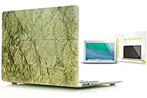 Hard Plastic Case & Ozone Screen Guard For Macbook 13 Pro Retina - Marble 6