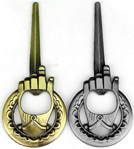 Hand Of The King Bottle Opener 2-Pack – Game Of Thrones Style – Bronze and Silver – Perfect Barware Man Cave Gift – Unique GOT Custom Cap Lifter Collectible Accessories Review