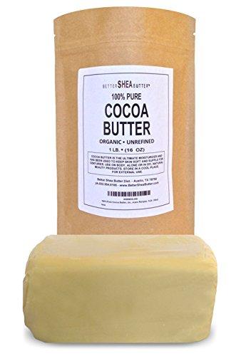 Beurre de cacao biologique - cacao naturel Scent - riches en anti-oxydants et les acides gras - Hydratante et anti-inflammatoires - réduit l'apparence des vergetures - Faire fondre et mélanger avec Raw beurre de karité et d'autres huiles naturelles de vot