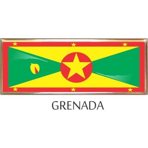 - Grenada Flag Car Auto Trunk Fender Bumper Metal Emblem Badges - 3 Pieces
