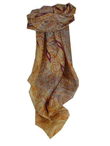 Echarpe Premier Qualité Gamme Contemporary 100% Soie de Mûrier Motif Paraka en Sand par Pashmina & Silk