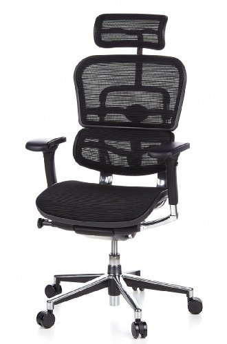 Ergohuman Bürostuhl mit Netz-Stoff, schwarz - 16