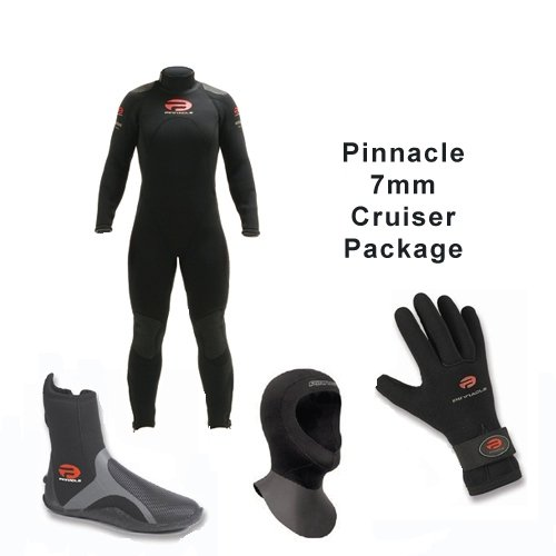 Cruiser 7 Wetsuit, Hood, Glove and Boot Diving Package (Small) (Pinnacle Cruiser)
