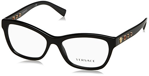Versace VE3225 Eyeglass Frames GB1-54 - 54mm Lens Diameter Black VE3225-GB1-54 by Versace