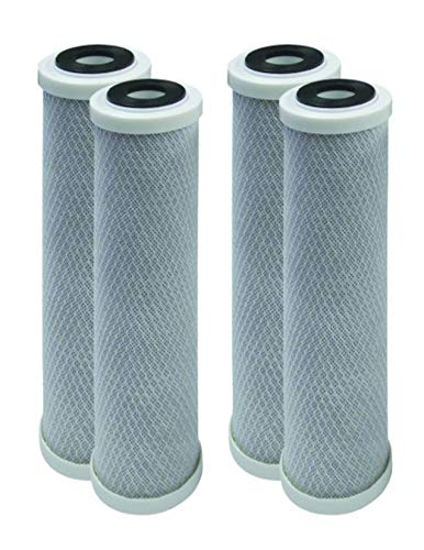 4-Pack Replacement GE GXWH04F Activated Carbon Block Filter – Universal 10 inch Filter for GE HOUSEHOLD PRE-FILTRATION…