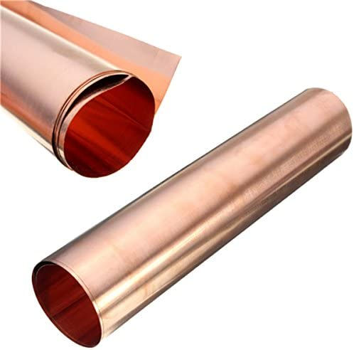 Queenwind 1pc 99.99% 純銅金属の手工芸品のための安全なシートホイルの航空宇宙 0.1 x200x500mm