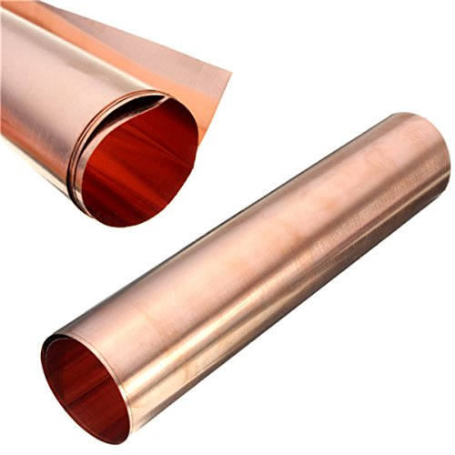 BephaMart 1pc 99.99% Pure Copper Metal Safe Sheet Foil For Handicraft Aerospace 0.1x200x500mm Shipped and Sold by BephaMart