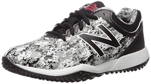 New Balance Boys' 4040v5 Turf Baseball Shoe, Pedroia CAMO Black, 6 M US Big Kid