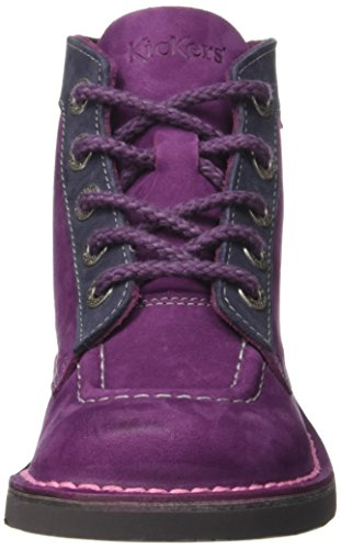 Fuchsia Orange Rangers Fille Rouge Kickers Bottes Col Bordeaux pYZwx06