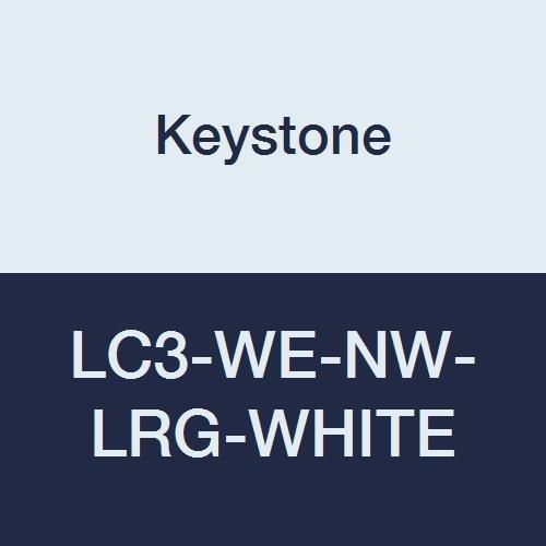 Keystone LC3-WE-NW-LRG-WHITE Polypropylene Lab Coat, 3 Pocket, Elastic Wrists, Snap Front, Single Collar, Large, White (Pack of 30) by Keystone